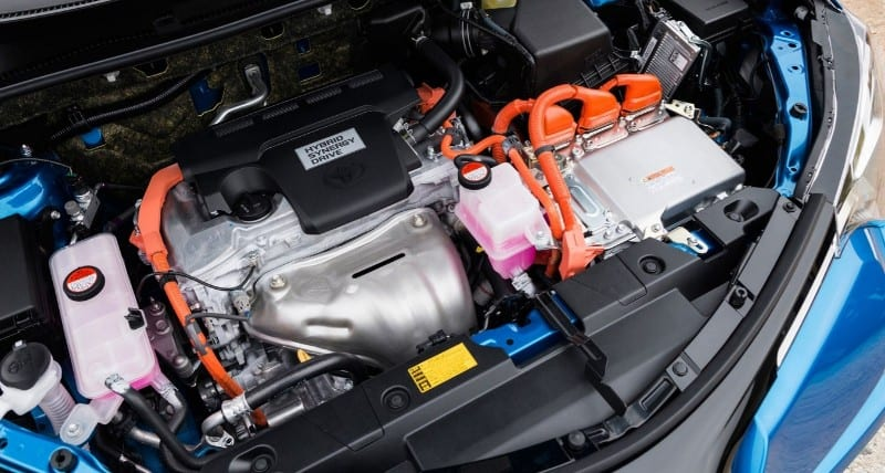 hybrid car gas engine