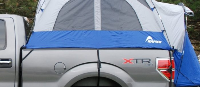 secure fitting tent for back of truck