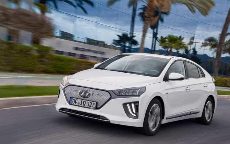 Hyundai Ioniq EV front 3/4 view