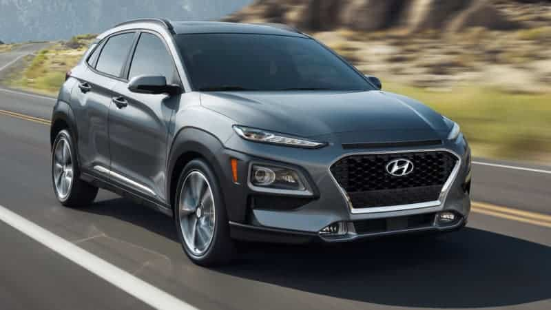 Hyundai Kona front 3/4 view