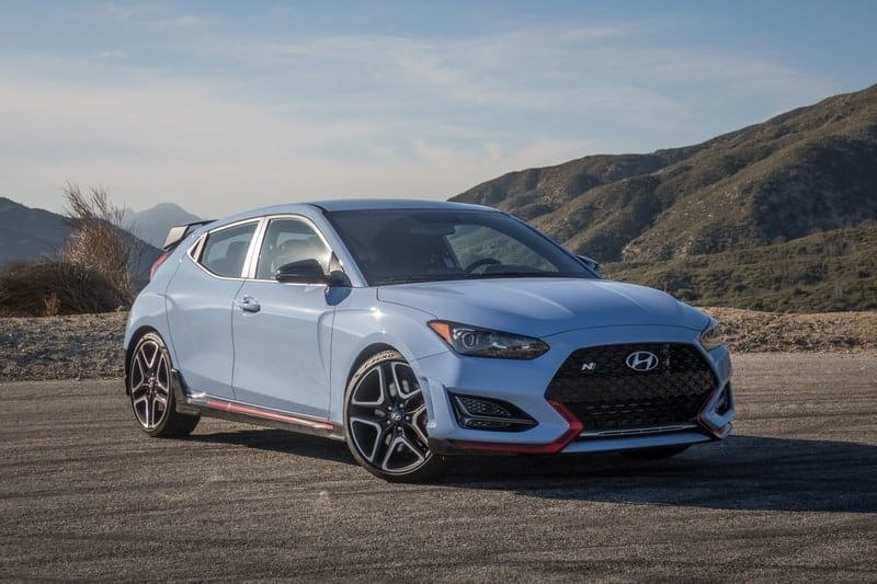 Hyundai Veloster N front 3/4 view