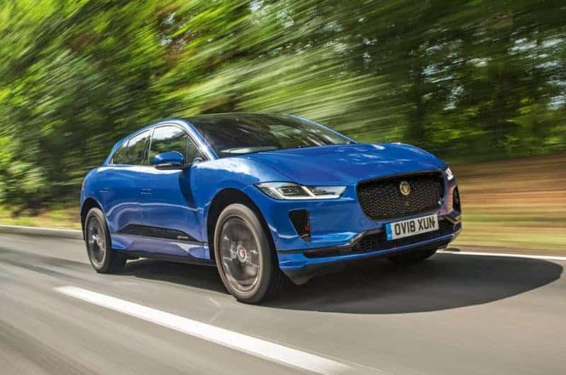 Jaguar I-Pace front 3/4 view