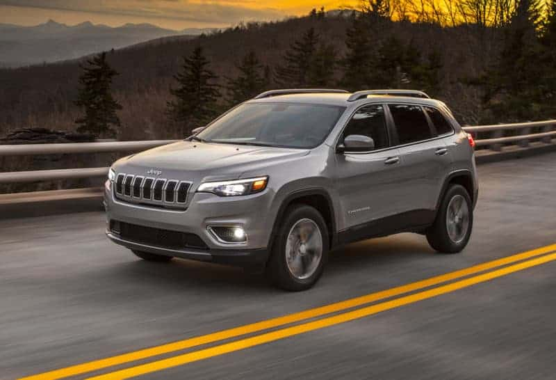 Jeep Cherokee front 3/4 view