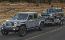 2020 Jeep Gladiator towing the SJ Grand Wagoneer