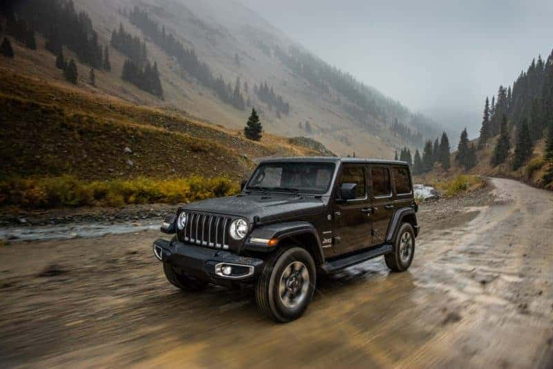 Jeep Wrangler Unlimited front 3/4 view