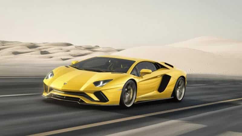 Lamborghini Aventador 740-4 S front 3/4 view