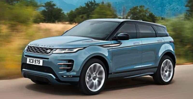 2020 Land Rover Range Rover Evoque front 3/4 view
