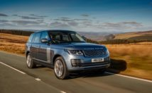Range Rover P400e plug-in hybrid front 3/4 view