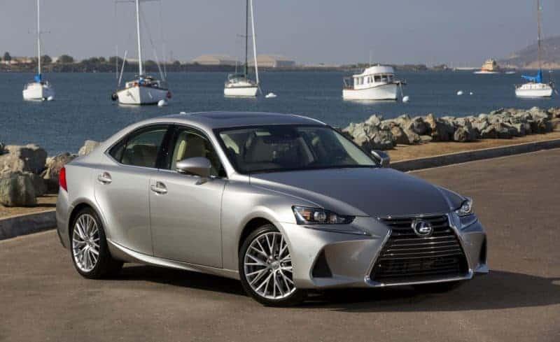 Lexus IS front 3/4 view