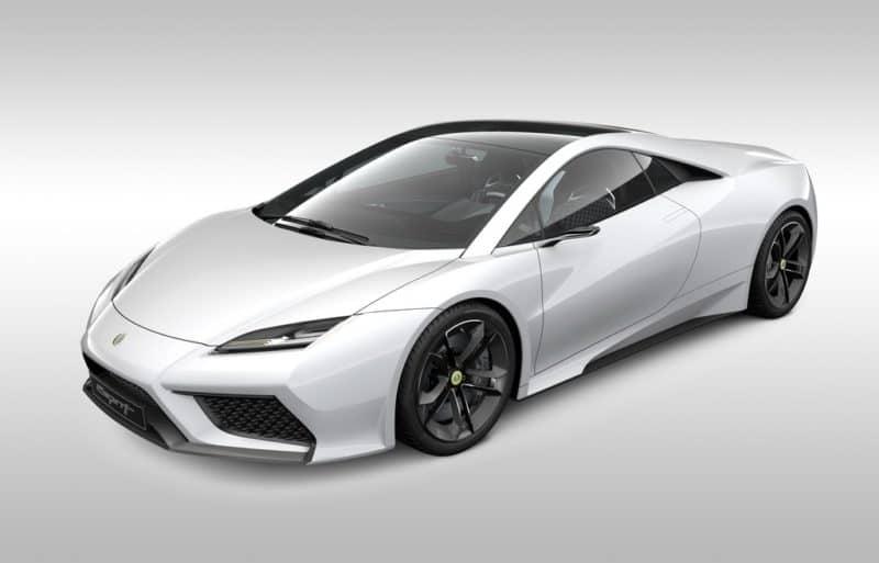Lotus Esprit rendering front 3/4 view