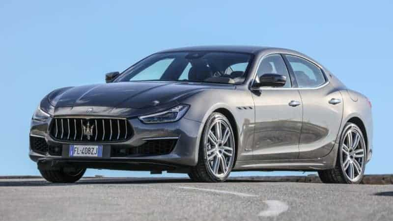 Maserati Ghibli front 3/4 view