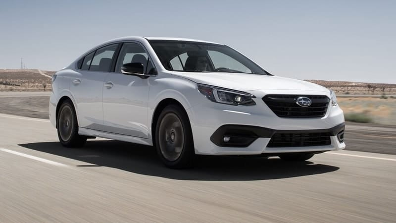 2020 Subaru Legacy front 3/4 view