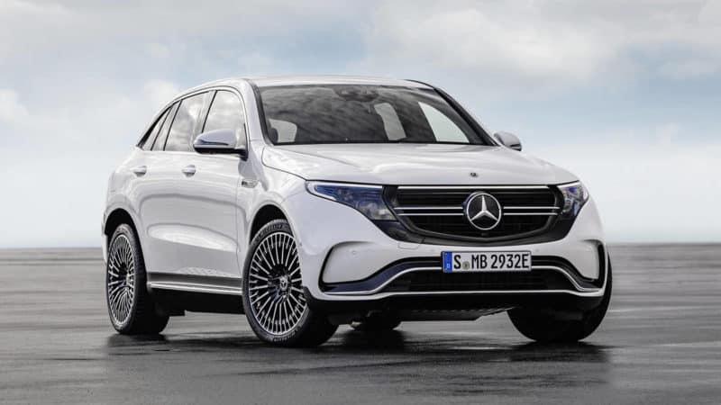 Mercedes-Benz EQC EV front 3/4 view