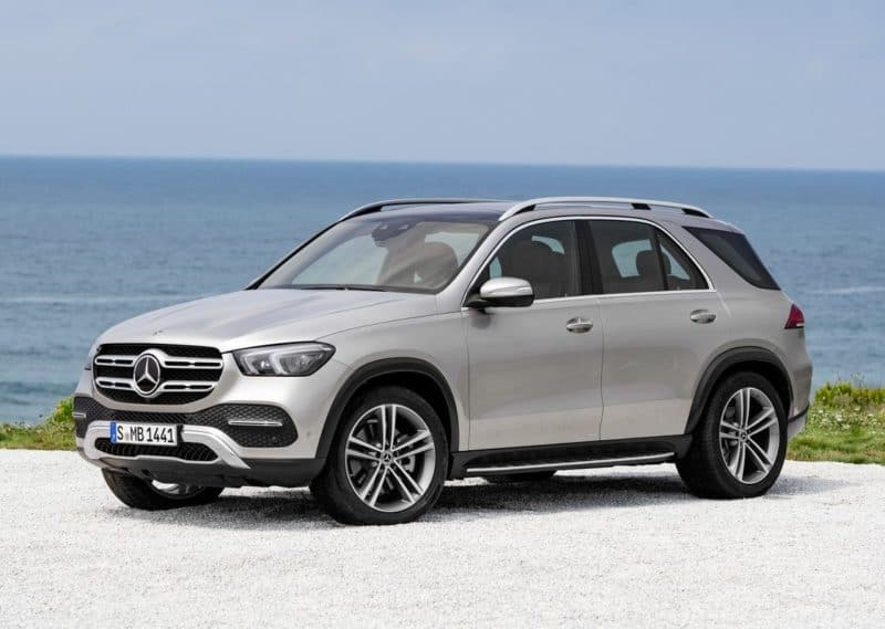 All-new 2020 Mercedes-Benz GLE Class front 3/4 view