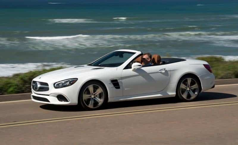 Mercedes-Benz SL roadster front 3/4 view