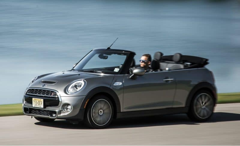 Mini Convertible front 3/4 view