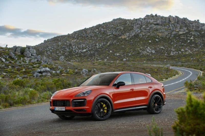 Porsche Cayenne Coupe front 3/4 view