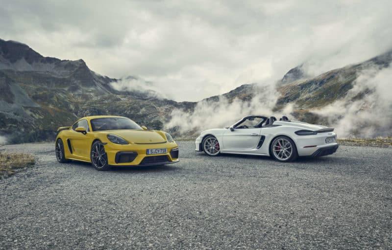 2020 Porsche 718 Cayman GT4 and Spyder