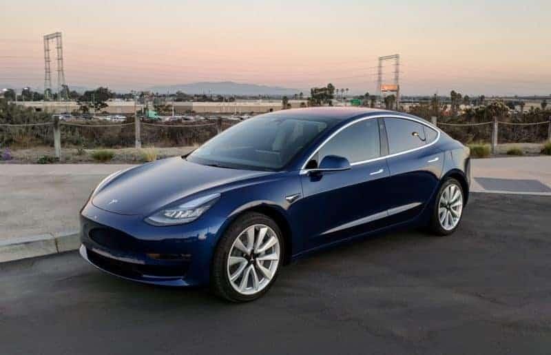 Tesla Model 3 front 3/4 view