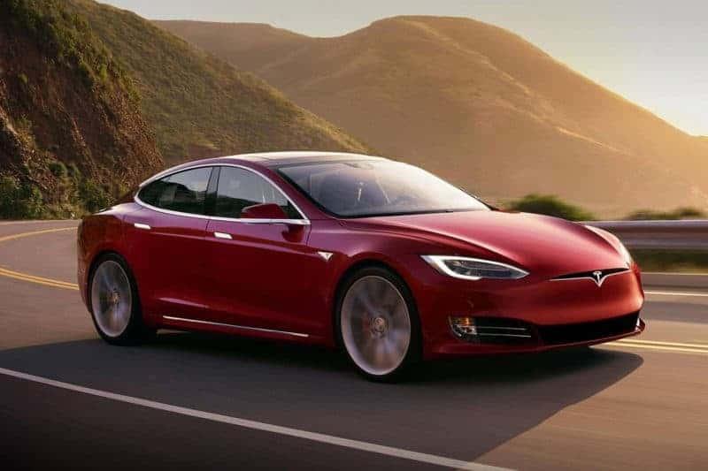 Tesla Model S front 3/4 view