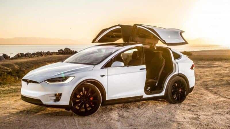 Tesla Model X front 3/4 view