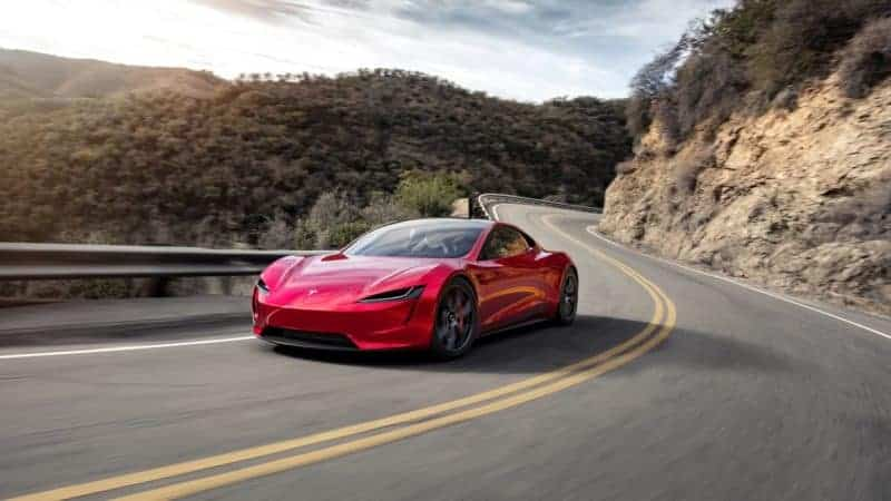 2020 Tesla Roadster front 3/4 view