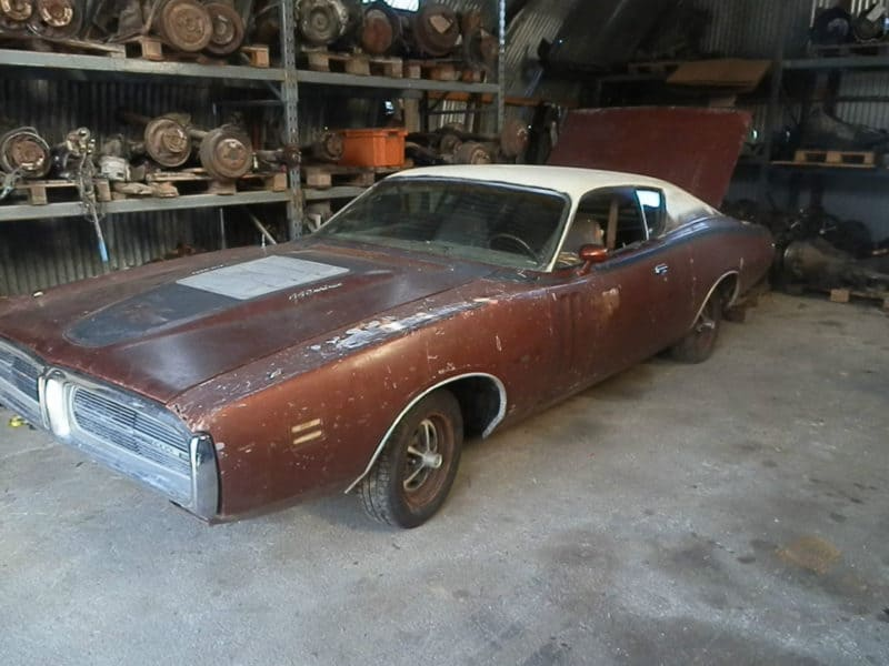 1971 Dodge Charger R/T - one of numerous old barn finds cars