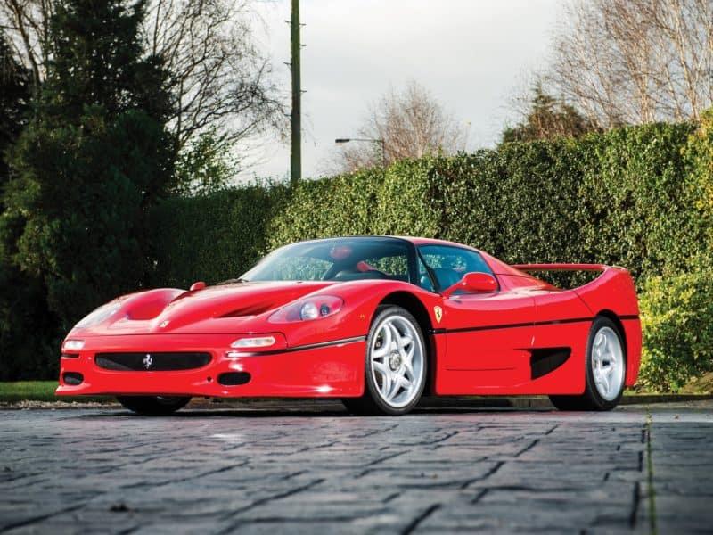 Ferrari F50 front 3/4 view
