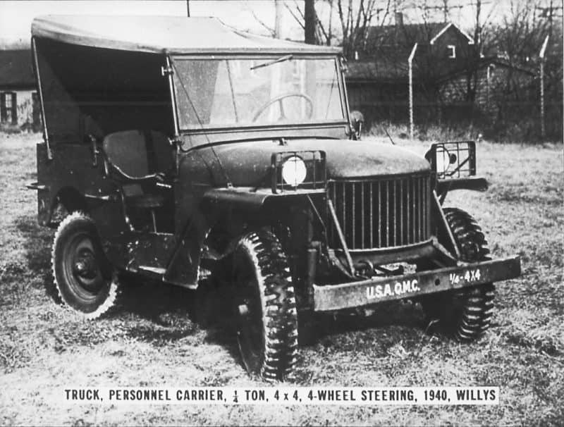 Willys Quad prototype front 3/4 view