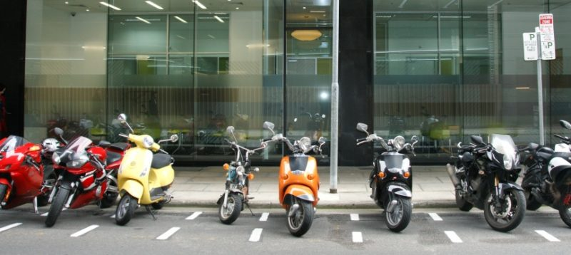 Motorcycle Commuter Parking Spaces