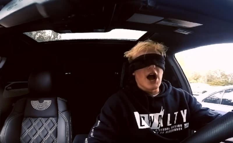 Driving with a blindfold is technically illegal pretty much everywhere but only legislated in Alabama, and Luxembourg