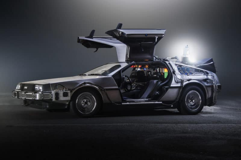 "DMC DeLorean time machine from ""Back to the Future"""
