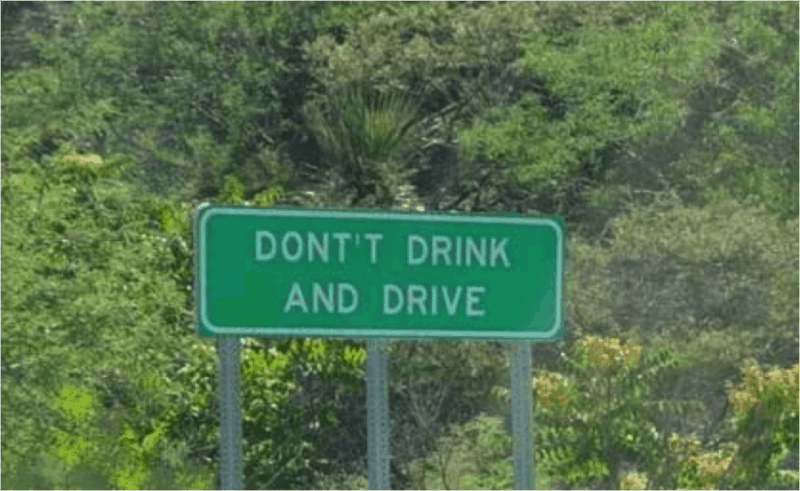 Drinking and driving is lot of fun