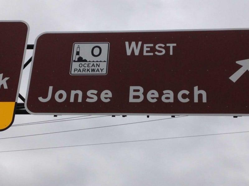 Jonse Beach funny road sign