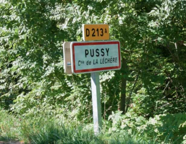 Pussy is one of the most lewd town names in the world
