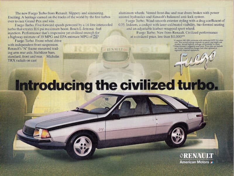 Renault Fuego advert
