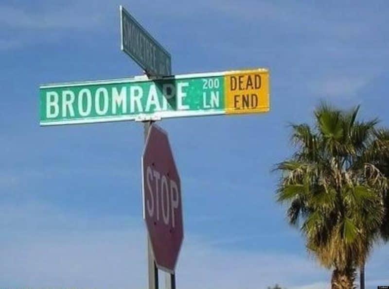 Street sign Broomrape