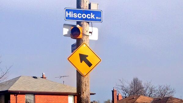 Hiscock boulevard is one of many funny road signs in the U.S.