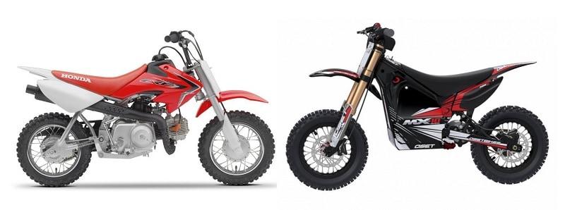 Gasoline vs electric dirt bikes