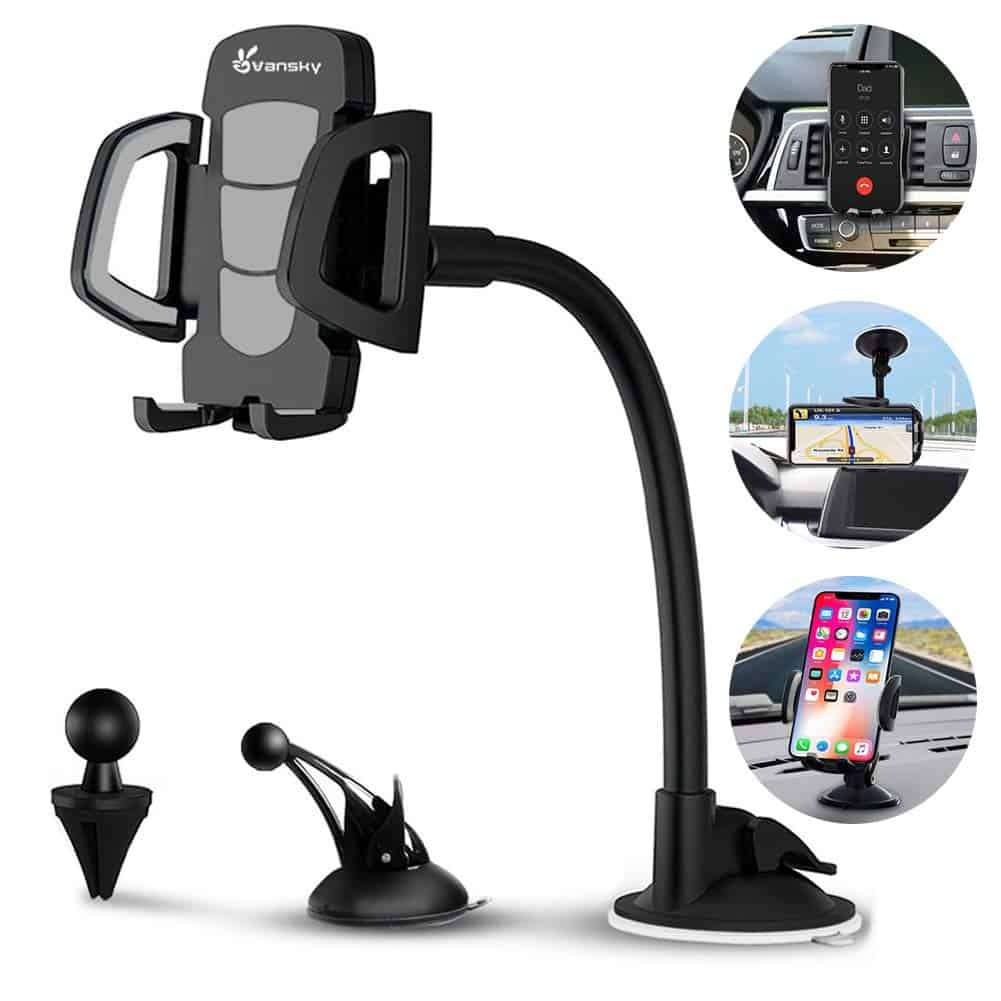 Universal Car Mount Adjustable Cell Phone Holder Stand Cradle Smartphones Car Phone Mounts