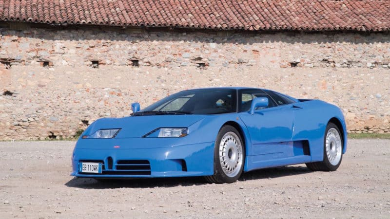 Bugatti EB 110 is one of the most coveted Italian cars