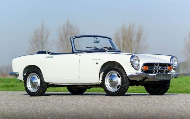 Honda S800 is one of the most famous Japanese cars of the sixties