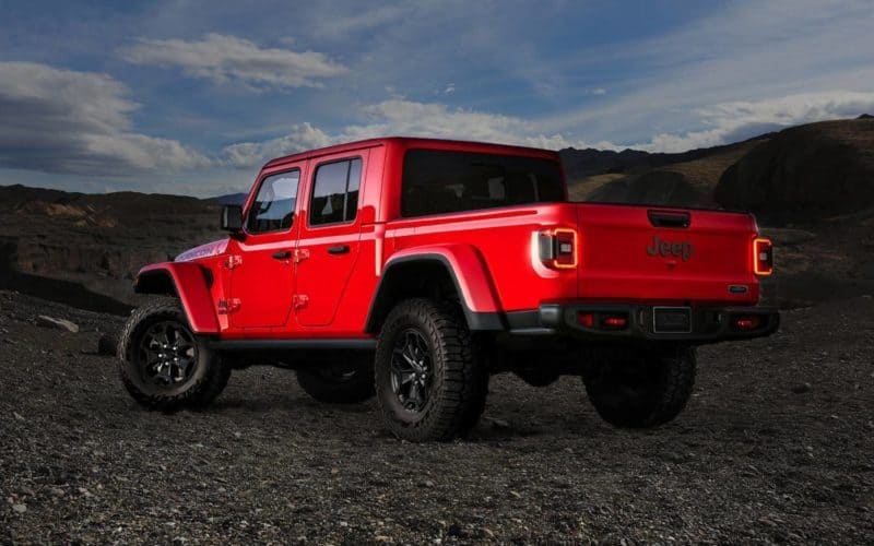 Jeep Gladiator rear 3/4 view