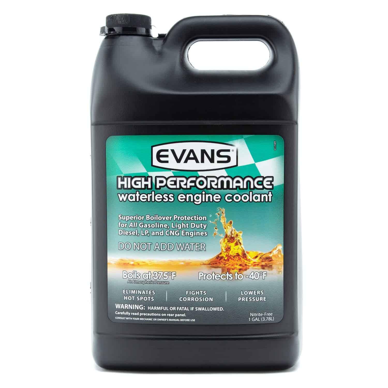 Bottle of EVANS cooling fluid