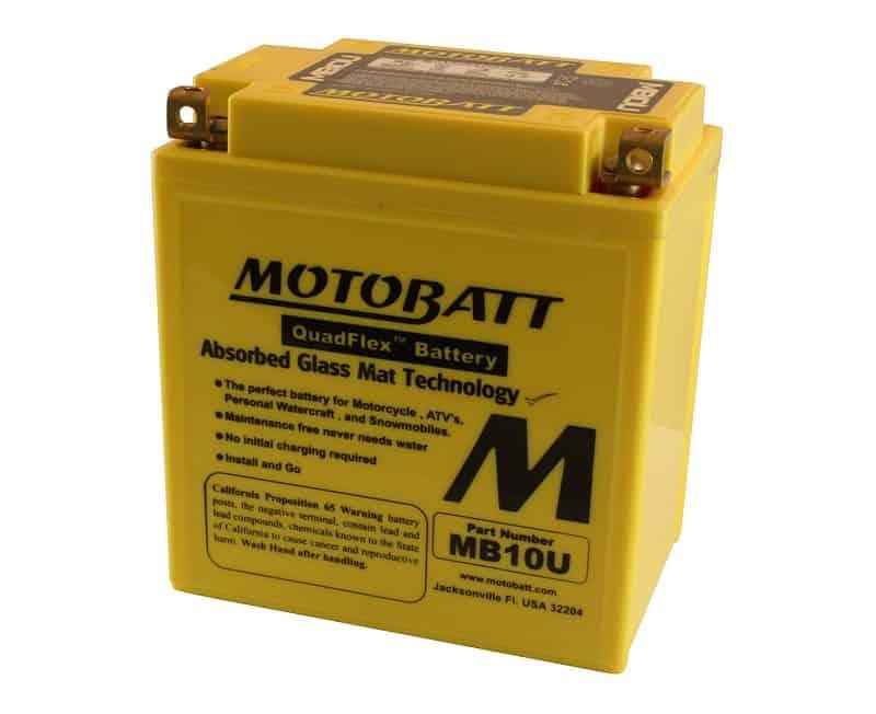 MotoBatt Factory-Activated QuadFlex AGM