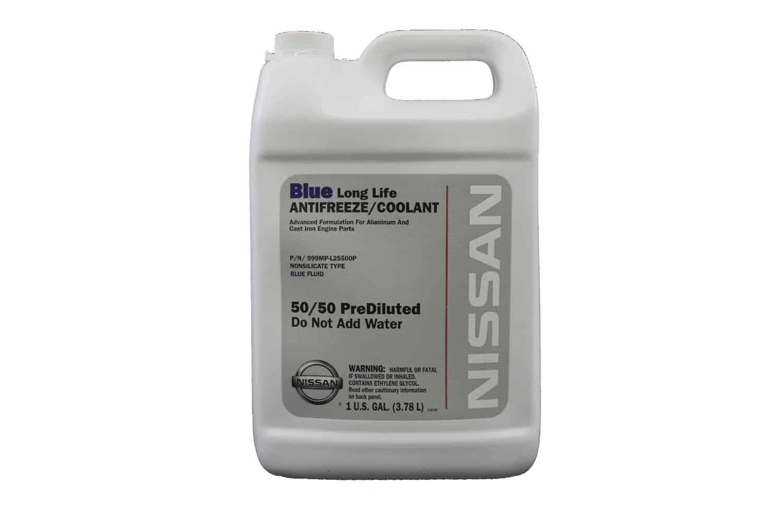 Bottle of Nissan coolant