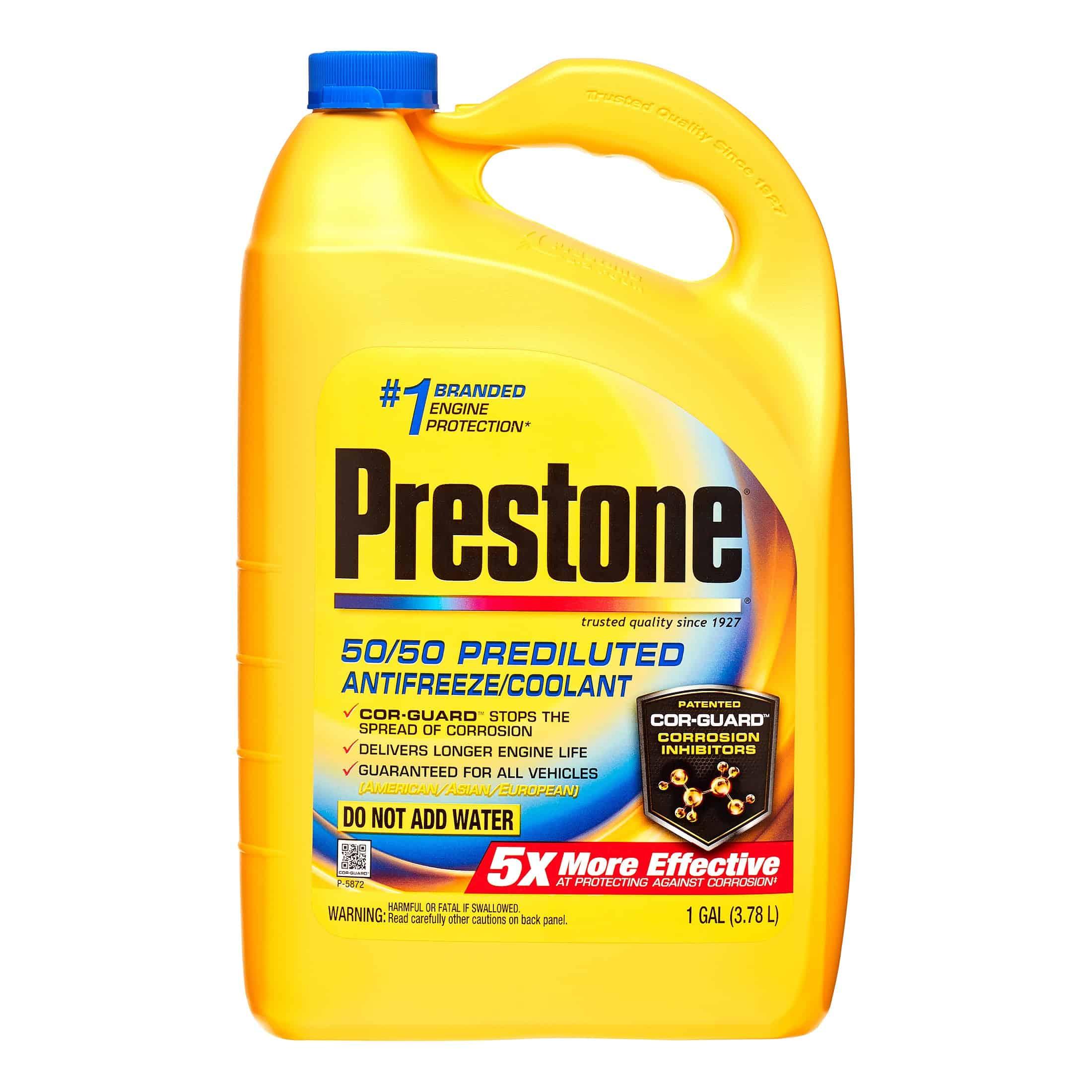 Bottle of Prestone Antifreeze