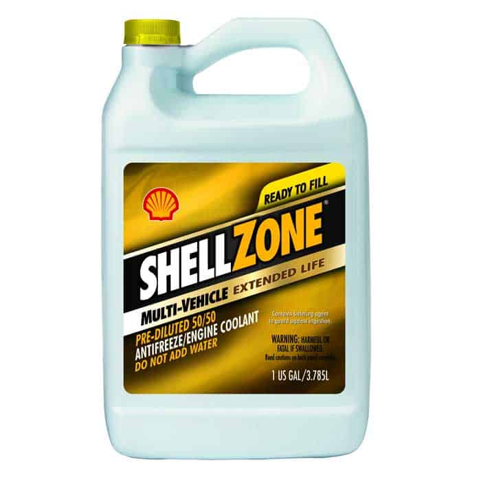 ShellZone prediluted coolant