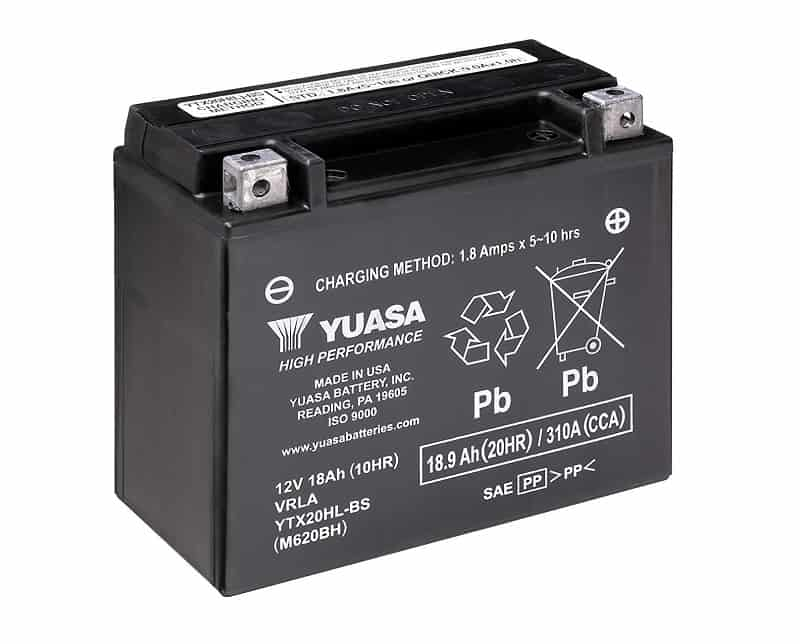 Yuasa Maintenance Free YTX20L-BS High-Performance Battery