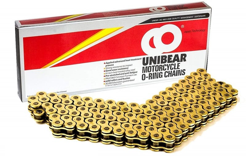 530 Gold Motorcycle O-Ring Chain 120 Links